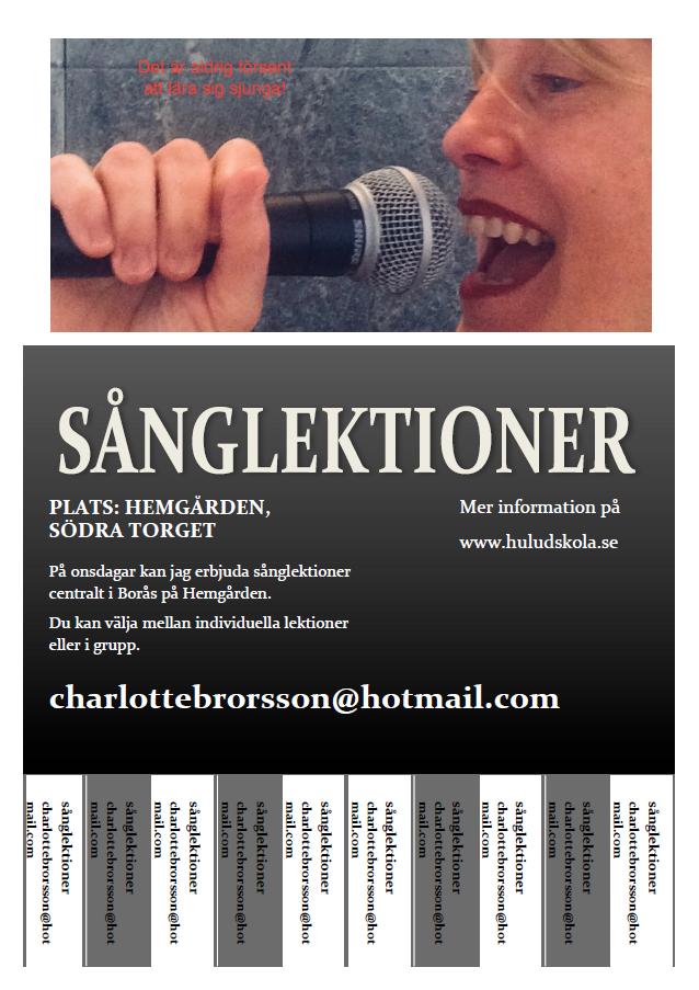 Sånglektioner Hemgården Charlotte Brorrson Trell