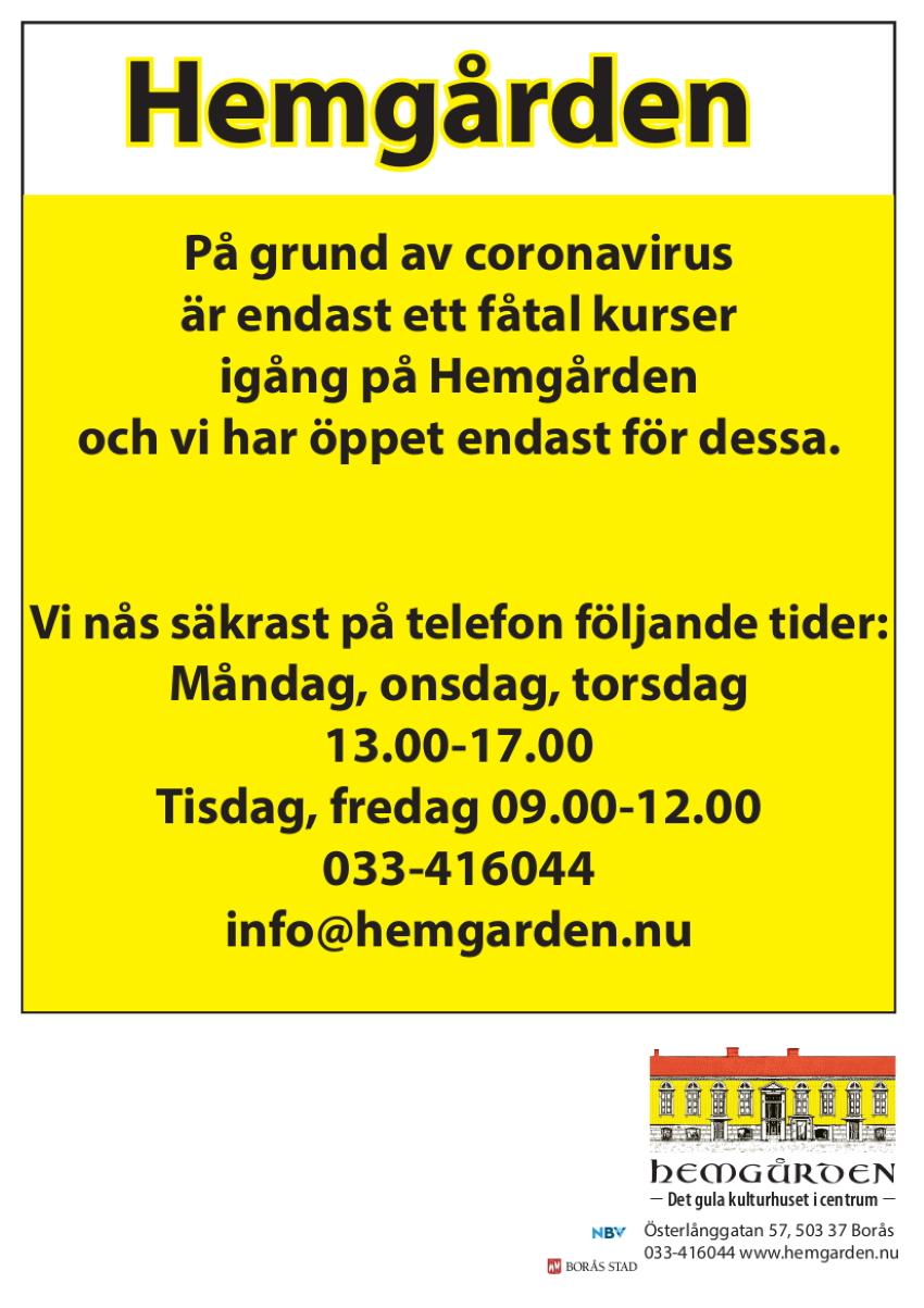 corona Hemgården Borås