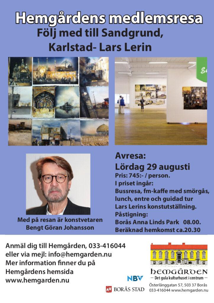medlemsresa Sandgrund Lerin Konst Hemgården Borås