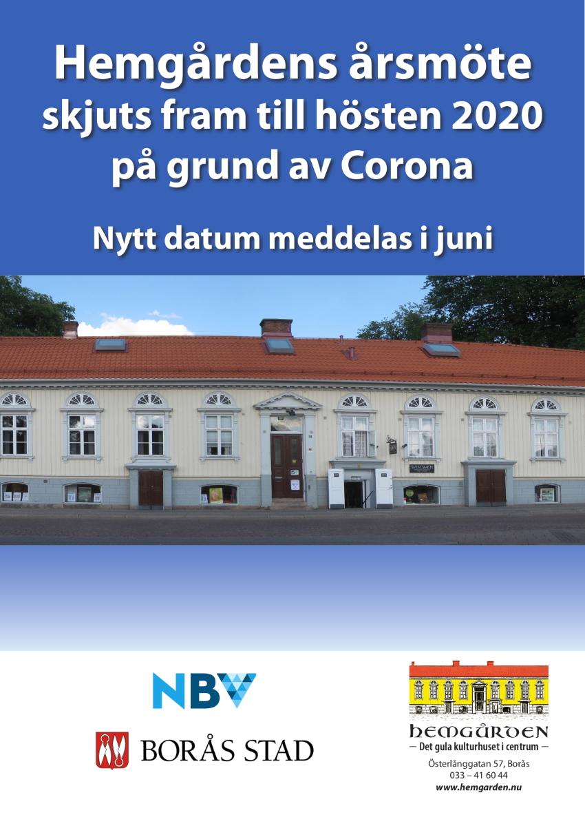 Årsmöte Föreningen Hemgården Borås